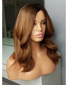 Bejoy 4/8# Ombre Brazilian Remy Hair Wavy 360 Lace Frontal Wigs