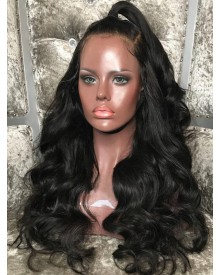 Bejoy Virgin Brazilian Hair Body Wave 360 Lace Wigs With Pre Plucked Hairline