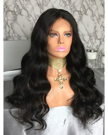 Bejoy Virgin Indian Human Hair Body Wave 360 Lace Frontal Wigs