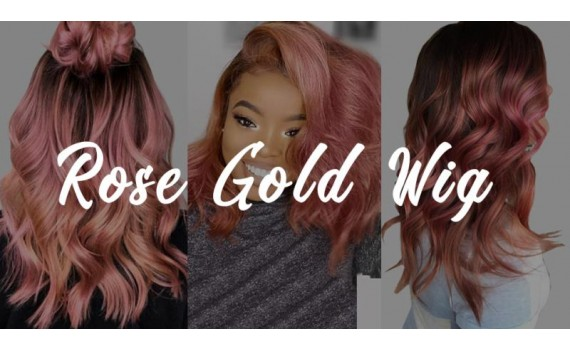 The Perfect Rose Gold Wig For The Holiday