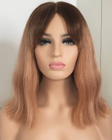 Bejoy 4/27# Brazilian Remy Hair Wavy Full Lace Bob Wigs