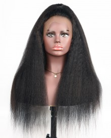Bejoy Kinky Straight Brazilian Virgin Hair Full Lace Wigs