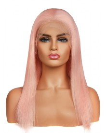 Bejoy Pink Brazilian Remy Hair Straight Full Lace Wigs