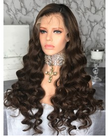 Bejoy Virgin Indian Human Hair Full Lace Loose Curly Wigs