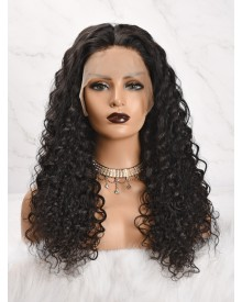 Bejoy Virgin Peruvian Hair Bleached Knots Deep Curly Full Lace Wigs