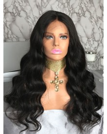 Bejoy Virgin Peruvian Hair Bleached Knots Body Wave Full Lace Wigs