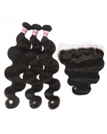 Bejoy 3 Bundles of Body Wave Virgin Hair With Lace Frontal