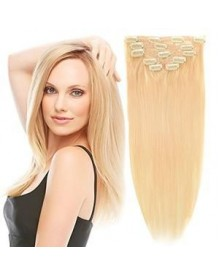 Bejoy Brazilian Remy Hair  Clip In Hair Extensions 613 Color  With 16 Clips Total 7Pcs