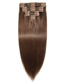 Bejoy Brazilian Remy Hair Clip In Hair Extensions With Natural color  Double drawn  18 Clips with 8 Pcs