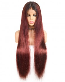 Bejoy 1B/99J Straight Brazilian Hair 13x6 Lace Front Wigs