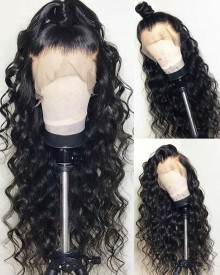 Bejoy Loose Curly Brazilian Virgin Hair 13x6 Lace Front Wigs With Baby Hair