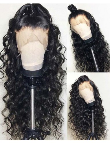 Loose Curly Brazilian Virgin Hair 13x6 Lace Front Wigs With Baby Hair