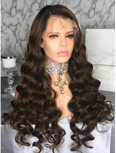 Malaysian Remy Hair Lace Front Wigs With Natural Hairline