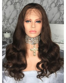 Bejoy New Products Virgin Remy Hair Brown Body Wave Lace Front Wigs