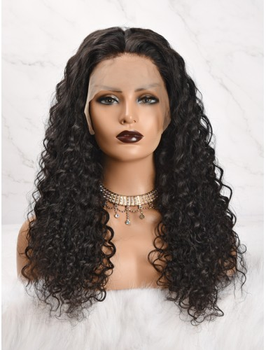 Peruvian Virgin Hair Deep Curly Lace Front Wigs