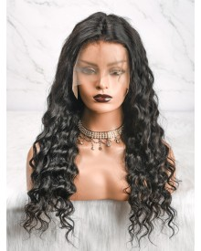 Bejoy Peruvian Virgin Hair Loose Curly 13x4 Lace Front Wigs