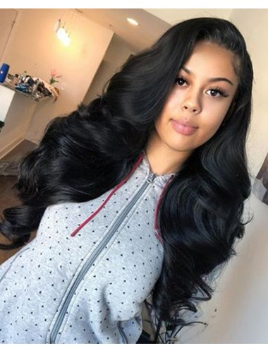 Peruvian Virgin Hair Loose Wave Lace Front Wigs