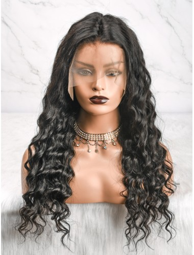 Virgin Brazilian Hair Loose Curly Lace Front Wigs