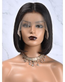 Bejoy Virgin Brazilian Hair Straight Bob Lace Front Wigs