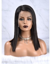 Bejoy Virgin Brazilian Hair Straight Bob Lace Front Wigs Side Part