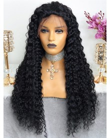 Bejoy Virgin Indian Human Hair Deep Curly Lace Front Wigs