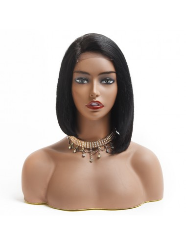 Bejoy Virgin Indian Human Hair 4X4 Lace Closure Wigs Straight Bob Cut Wigs