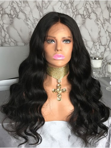 Bejoy Virgin Indian Human Hair Lace Front Wigs Body Wave