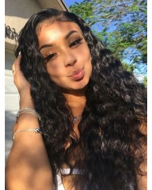 Bejoy Virgin Indian Human Hair Lace Front Wigs Natural Wave